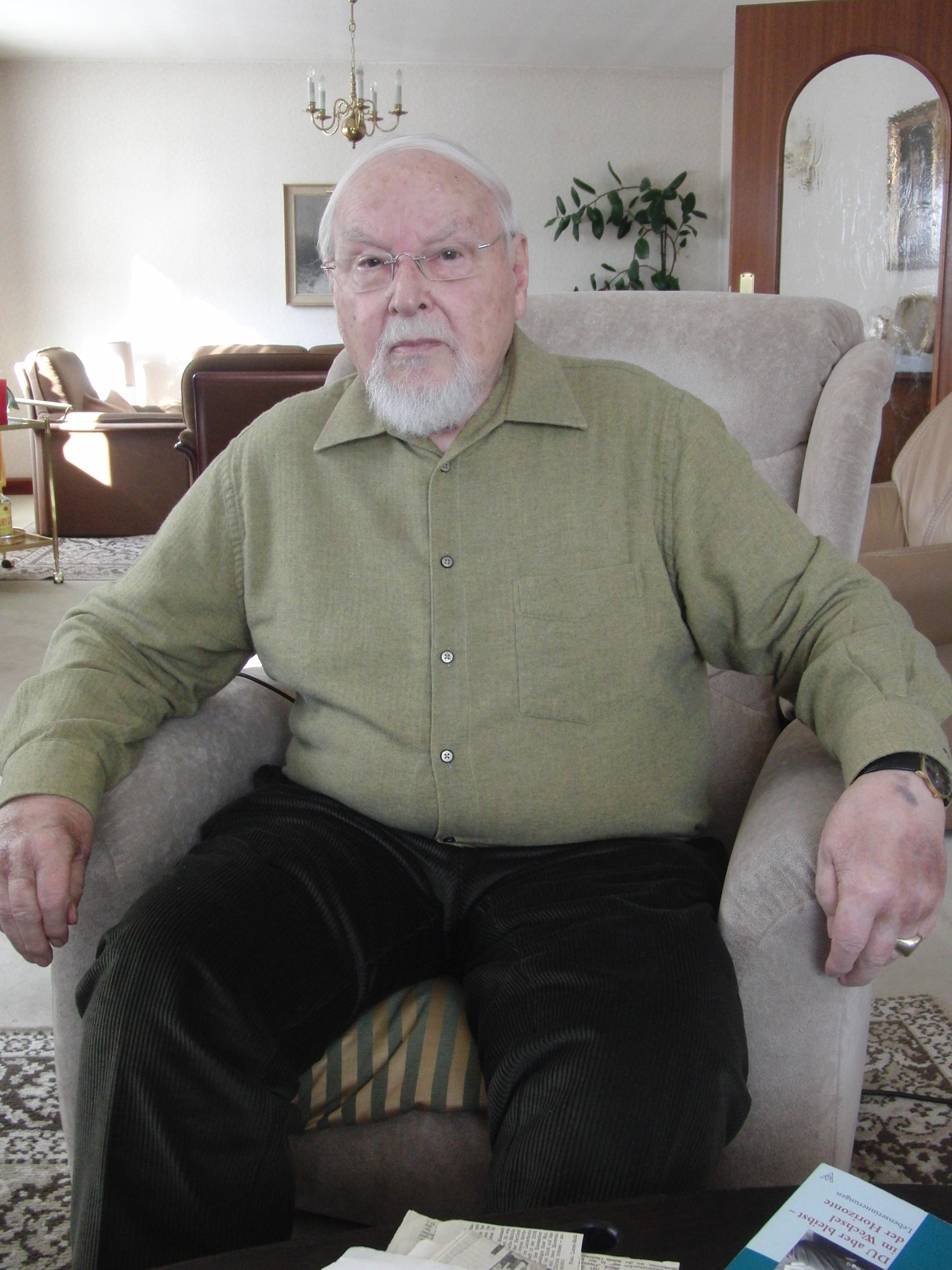 Hans Reder, 87 Jahre. Foto: KUNZ