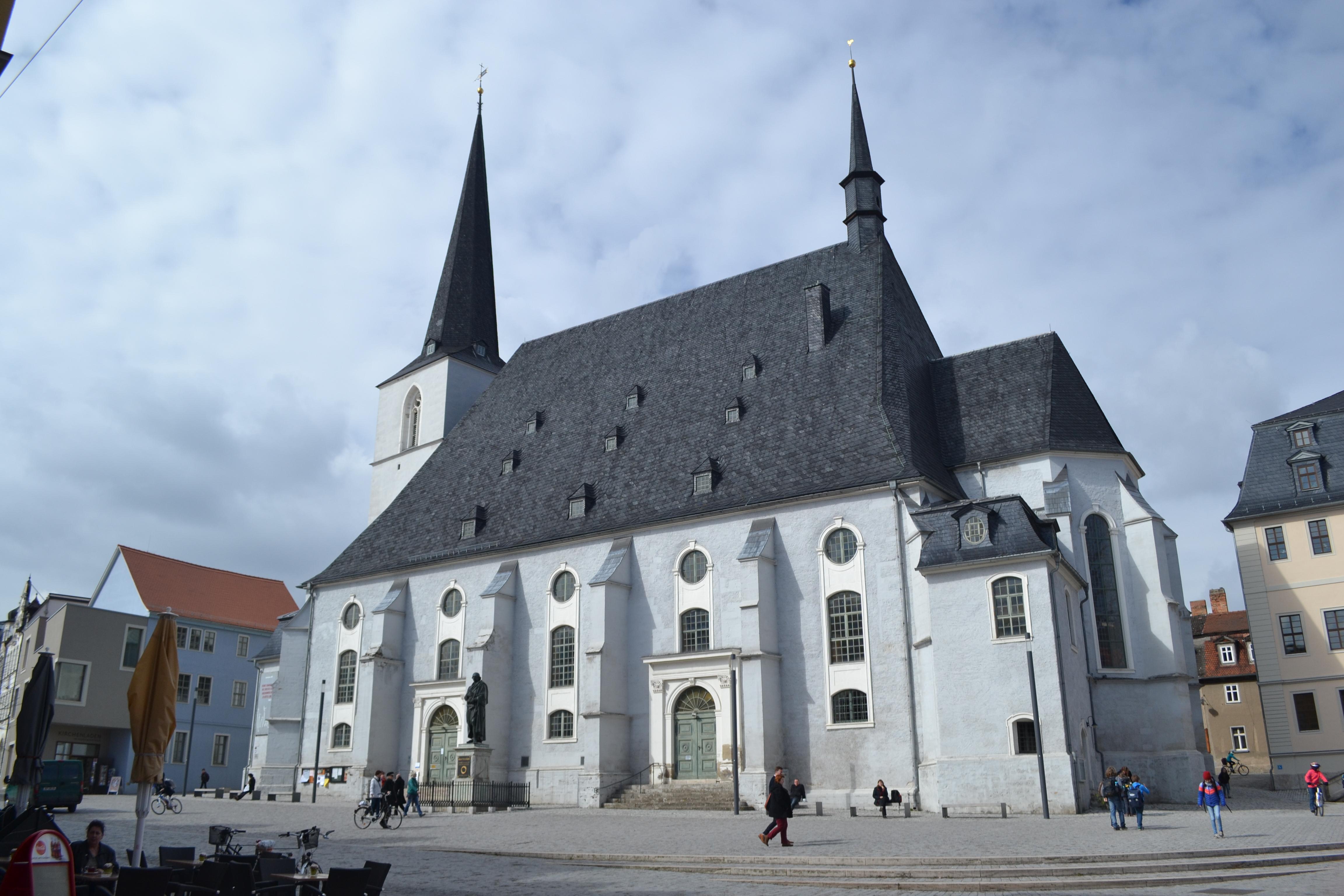 Die Stadtkirche St. Peter und Paul in Weimar, im Volksmund Herder-Kirche genannt.
